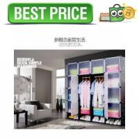 Magic Wardrobe Lemari Baju Plastik DIY 16 Pintu - Hitam