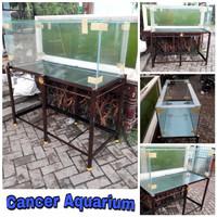 Aquarium 120x50x50 FULL 8mm Dan Rak Besinya