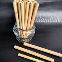[Bambu 13] Sedotan Bamboo Straw Zero Waste 13cm