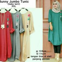 Tunik jumbo/big size XXL /bumil/baju kantor/tunic santai/baju muslim