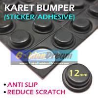 12mm Karet Bumper Stiker Anti Slip Skid Scratch Sticker Mat Rubber Pad