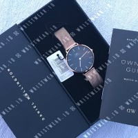 Jam Daniel Wellington DW Classic Black Petite Melrose 32mm Original