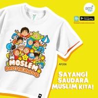 Afrakids AF206 Baju Kaos Bayi Anak Muslim Murah