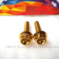 Baut Probolt Gold Untuk Baut Shock Belakang Nmax, Aerox 155 & Xmax 250