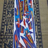 Striping lis sticker variasi mio sporty amore sonic zombie biru