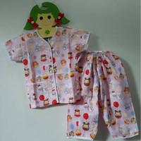 Baju Tidur Anak Perempuan Pajamas Tsum Tsum Balon Pink Setelan Panjang