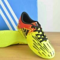 sepatu futsal adidas xtechfit anak yellow maroon list black