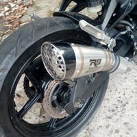 Knalpot Racing R9 H2/Slip On/Ninja 250 New/Fi/Carbu/Cbr 250Rr/Cbr150