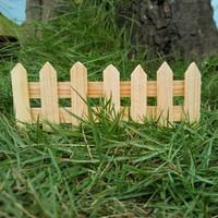 Natural Pine Wood Miniature Garden Fence Pagar Taman Mini Kayu Vintage
