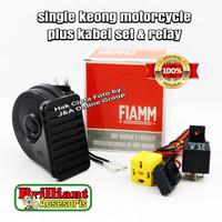 Klakson Keong Sepeda Motor FIAM Asli plus Kabel Set Relay Bosch