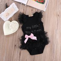 Romper Bayi Renda Hitam /Jumper Baju Bayi perempuan /Baby Jumpsuit