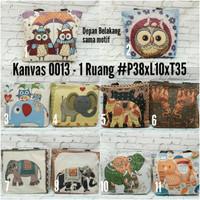 BEST SELLER Tote bag import bahan kanvas motif lucu / tas gajah owl