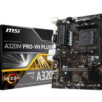 MSI A320M Pro VH Plus (AM4, AMD A320, DDR4, USB3.1, SATA3)