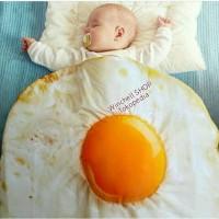 selimut bayi telur telor baby blanket egg case master travel organizer