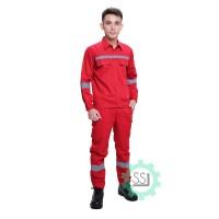 Seragam proyek / Setelan Baju Celana / baju celana kerja safety