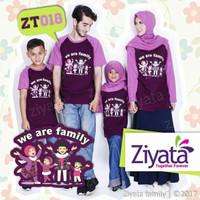 Baju Kaos Couple Keluarga Ziyata / kouple Kaos Murah Adem Terbaru