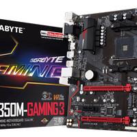 Gigabyte GA-AB350M-Gaming 3 AM4 AMD B350 DDR4 USB3.1 Resmi NJT 3 Tahun
