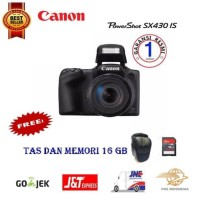 Terlaris Kamera Canon Powershot SX430 IS Digital Camera - Free Memory
