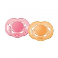 Avent Pacifier Free Flow 6-18 isi 2 Orange/Pink