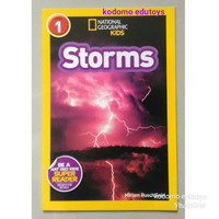 National Geographic Kids Level 1 Storms, Buku Import Anak