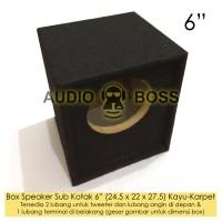 """Box Boks Speaker Sub Kotak 6in 6 inch 6"""" Kayu Karpet 24.5 22 27.5 cm"""