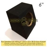 Box Boks Speaker Subwoofer Sub Miring 6in 6 inch 6 Kayu Karpet