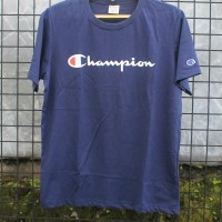 ORIGINAL Champion T Shirt Navy Kaos Kaus Dongker