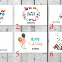 Amplop Angpao Ulang Tahun Birthday Custom Nama