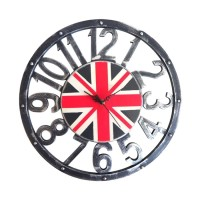 Gomo | jam dinding clock unik industrial dekor interior shabby wall