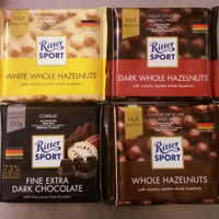 RITTER SPORT CHOCOLATE 100g dengan 4 Variant Rasa
