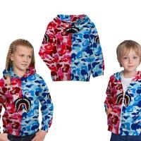 Jaket Sweater Anak Fullprint Custom Bape Shark 01