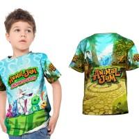 Kaos Baju Anak Fullprint Custom Animal Jam 01