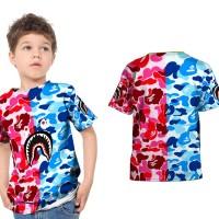 Kaos Baju Anak Fullprint Custom Bape Shark 01