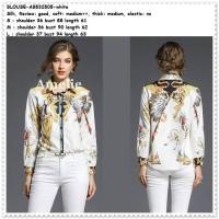 Baju Atasan Kemeja Indian Blouse Wanita Import AB532505 White Putih