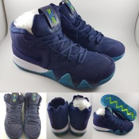 Sepatu Basket Nike Kyrie Irving IV 4 Dark Think Blue Obsidian Biru Tua