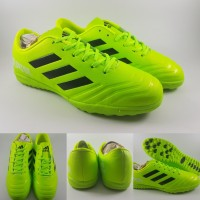 Sepatu Futsal Anak Adidas Predator IC Kids Green Volt Black Hijau