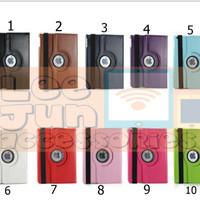 iPad Mini 1/2/3 Rotary Smart Flip Cover / Case (Hard)