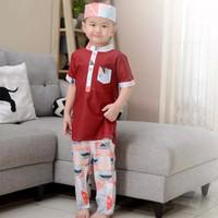 Baju Lebaran Busana Muslim Setelan Koko Turki Anak Bayi Laki Premium