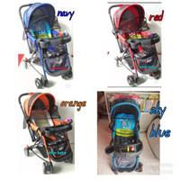 stroller pliko ranger 4in1. hadap depan belakang, baby walker, ayunan