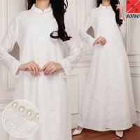 Baju Gamis Putih Gamis Umroh Busana Muslim Wanita Dress Muslim
