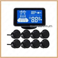 Sensor Parkir Mobil Depan Belakang 8 Sensor + LED Display Meter