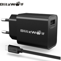 Kabel USB dan Charger Quick Charge 3.0 BlitzWolf BW-S9 not Aukey