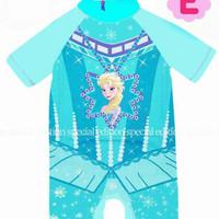 Baju renang swimsuit anak perempuan jw 49 frozen