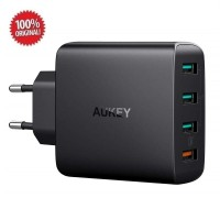Aukey 4 Port Wall Charger With Quick Charge 3.0 (PA-T18) - Hitam