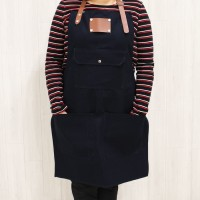 Apron (Celemek) Barista / Barber / Chef Canvas & Synthetic Leather