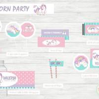 Unicorn Party - Dessert Table Decoration - Snack Label - Unicorn
