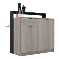 Garvani - Andres Multifunction Meja Multifungsi / Meja Bar Alphina Oak