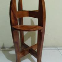 Meja Guci atau Meja Dispenser Kayu Mahoni Harga Murah