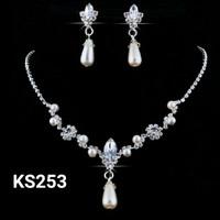 Perhiasan set korea Kalung + anting - kalung pesta KS253