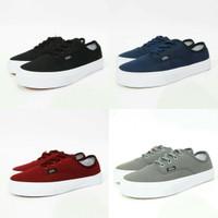 Sepatu Vans Mono - Hitam, Navy, Maroon, Abu - Hitam, 36